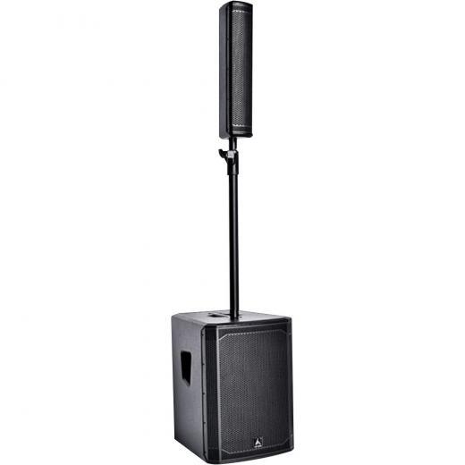 Sistema de refuerzo de sonido de rendimiento diseñado para músicos, Potencia 550W RMS (Frecuencias medias 200W, Frecuencias Bajas 350W)