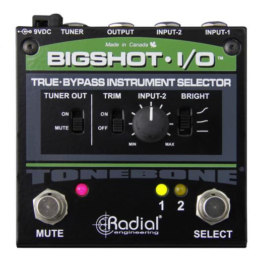 Pedal de conmutación de 2 instrumentos con salida de afinador, interruptor brillante, control de nivel y True-bypass