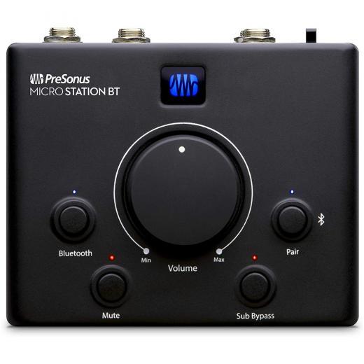 Controlador de monitor de canales con Bluetooth 2.1, botón de volumen y botones de silenciar / sub bypass
