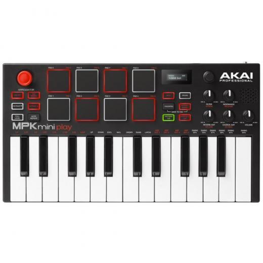 Controlador de teclado USB de 25 teclas con 8 pads MPC, 4 botones asignables para controlar 8 parámetros y joystick de 4 vías