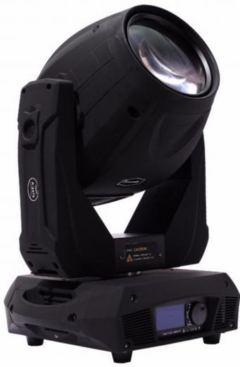 Potencia de la lámpara de 440W de potencia, Flujo luminoso 24000 lm, Pantalla LCD: con batería interna, rueda de color, gobos y prisma