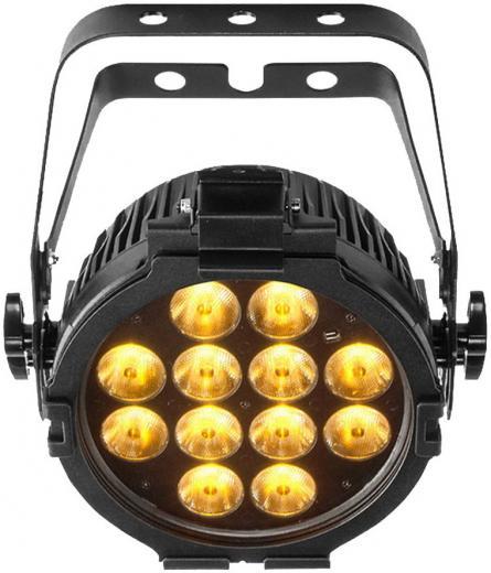 Par washlight LED con LEDs de color blanco variable, blanco cálido, frio o ámbar. Las Temperaturas de color son ajustables, además de proporcionar la temperatura perfecta para por ejemplo vídeo.