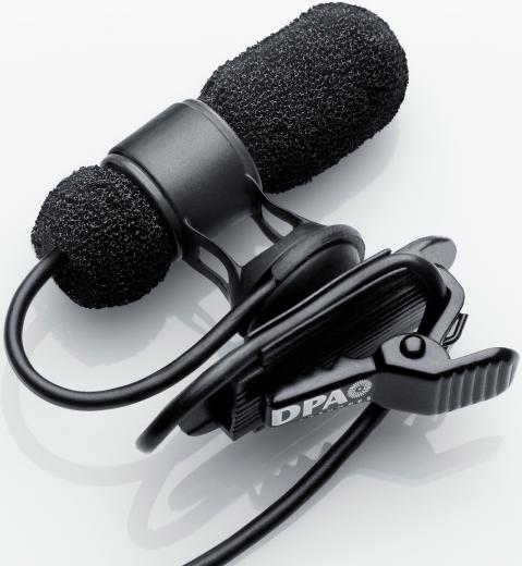 Micrófono d:screet™ lavalier miniatura, condensador con patrón polar cardioide, 250Hz-17kHz, 134 dB SPL.
