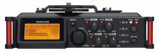 Grabación para audios de camara, cuatro entradas de micro XLR balanceadas, impedancia de entrada: 2k ohms