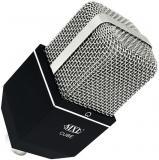 Patrón polar Cardioide, condensador de gradiente de presión, Respuesta frecuente: 20Hz - 20kHz, Max SPL para 0,5% THD: 132 dB SPL