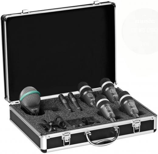 Siete micrófonos y accesorios, resistente estuche de aluminio, cuenta con la última versión del legendario micrófono para batería D112 MKII, el micrófono compacto C430 y el popular micrófono para batería D40