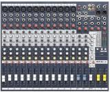Mezclador de 12 canales con 12 entradas mono, 2 entradas estéreo y efectos léxicon incorporados de 24 bits