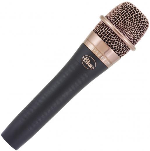 Micrófono de mano dinámico activo para voces con patrón cardioide e indicador de Phantom Power. 147dB SPL, 50Hz - 16kHz.