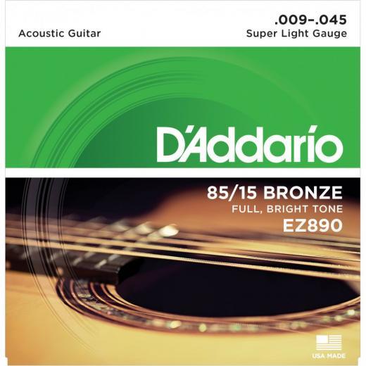 Set 6 Cuerdas Guitarra Acustica/Folk 09-45