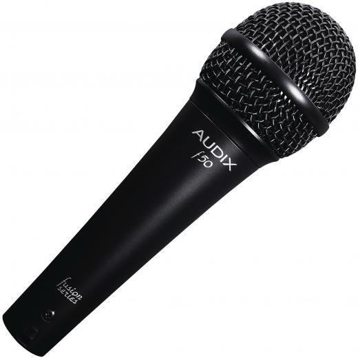 Micrófono dinámico todo-proposito y vocal, patrón polar cardioide.