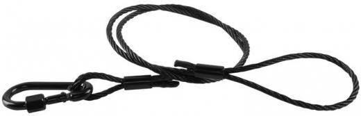 Cable de acero que asegura que los dispositivos no caigan, evitando accidentes y daños a personas o equipos, Capacidad de carga: 35 kgs