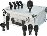 Kit de 5 micrófonos dinámicos hipercardioides para batería, con clips y maleta de aluminio. Incluye 1 f5 (caja), 3 f2 (toms) y 1 f6 (bombo). Hecho en USA.
