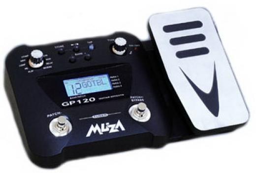 56 tipos de efectos, pedal de expresion o volumen, patrones de bateria incluidos, pantalla retroiluminada LCD