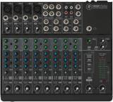 Mezclador analogo de 12 canales con 4 preamps de micrófono Onyx, 4 canales estéreo, 2 envíos auxiliares por canal y 4 inserts