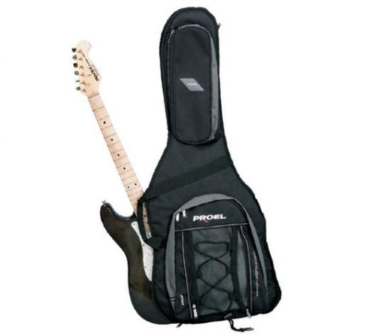 Serie Innovation, ideal para guitarras electricas, Relleno de 20 mm, bolsillo delantero con cierres
