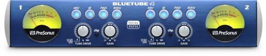 Preamplificador de micrófono e instrumento de 2 canales con XMAX mezclable y Preamplificadores de tubo 12AX7-based para cada canal