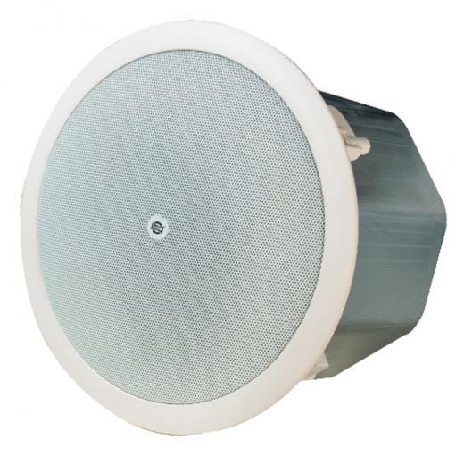 Altavoz: 6.5 -16 Ohms con woofer de polipropileno, salida: 70V-7.5, 15, 30, 60W 100V-15, 30, 60W, voltaje de entrada: 70V/100V