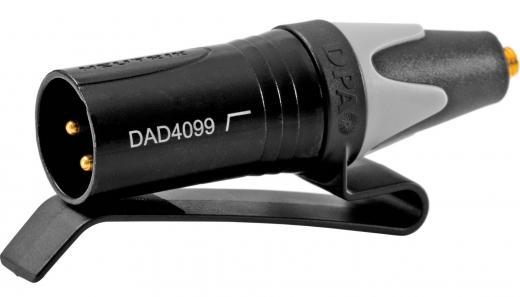 Adaptador MicroDot a XLR Macho con clip.