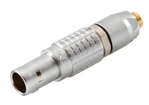 Adaptador MicroDot a Lemo de 4 pines para adaptar los micrófonos miniatura DPA 4060 y 4061, con la serie inalámbrica TS 500/600 de Beyerdynamic.