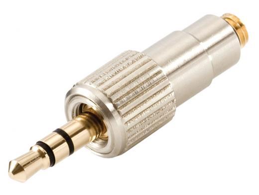 Adaptador MicroDot a 1/8¨ Sennheiser para adaptar los micrófonos miniatura DPA 4060 y 4061, con las series inalámbricas Sennheiser Evolution/G2 y G3 Line 6 X2, y Audio Ltd. En2 TX.