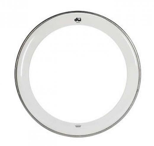 """Parche Coated Dot Clear Edge de una sola capa con borde revestido serigrafiado y aro de canal de aluminio prensado - 14 """""""