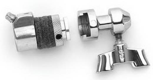 Clutch de 2 partes para facilitar el empaque y almacenamiento de platillos Hi-hat