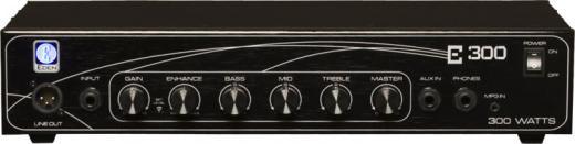 Potencia 300W RMS, Impedancia 4-8 Ohms (salida plug), Compresión automática y entrada mini plug para MP3.