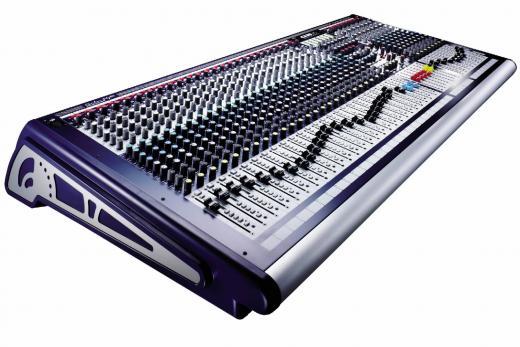 40 canales, 8 buses, estudio y en vivo, funciones de FOH o monitor, con control de fader de salidas de grupo o auxiliares