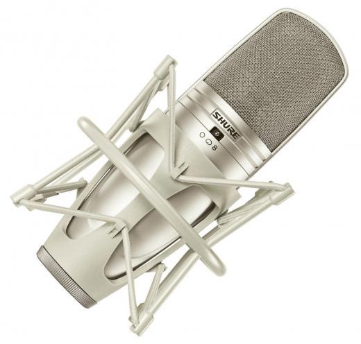 Micrófono de condensador de diafragma grande, de bajo ruido y con patrones polares cardioides, omnidireccionales y figura 8 para una máxima flexibilidad