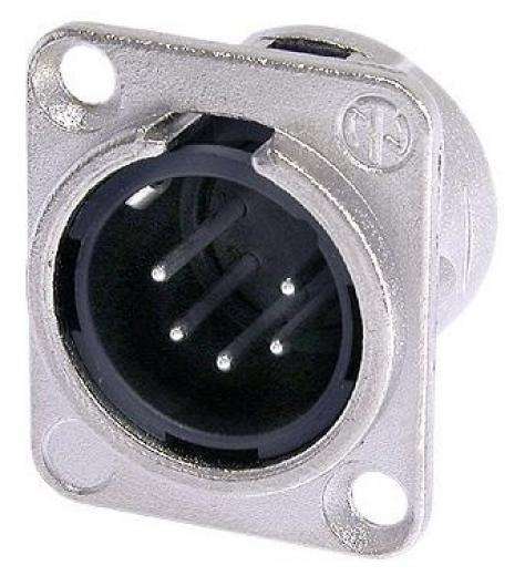 Conector XLR Chasis Macho Cuadrado 5 Pin
