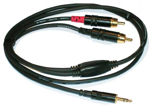 Cable Mini Plug TRS a 2 RCA 1.5 Mts