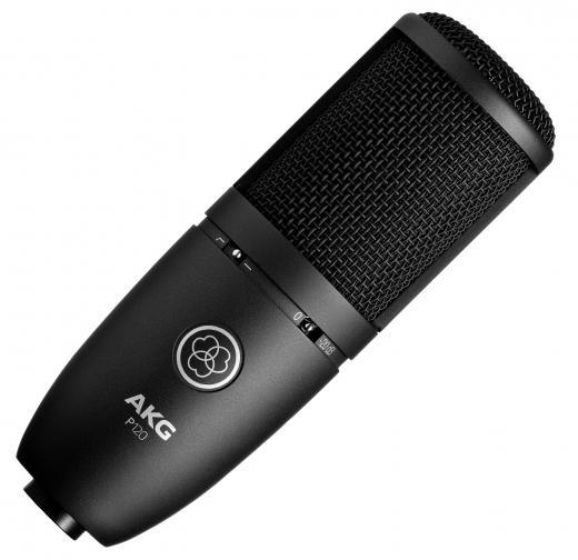 Micrófono de condensador de diafragma medio con patrón polar cardioide, respuesta de frecuencia de 20Hz-20kHz, atenuación de bajos de 20dB