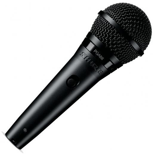 Micrófono dinámico con patrón polar cardioide y respuesta de frecuencia de 50Hz-15kHz