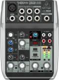 Mezclador analógico de 5 entradas y 2 buses con ecualizador de 2 bandas e interfaz de audio USB