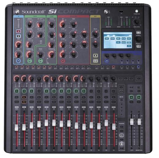 Efectos Lexicon ®, 16 preamplificadores de micrófono más 4 retornos estéreo, entrada totalmente equipadas con compresores, gates, ecualizador paramétrico, filtro de paso alto y retraso