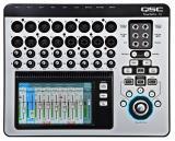 Mezclador digital de 20 canales con interfaz de pantalla táctil, 12 entradas de micrófono, 4 entradas combinadas de micrófono / línea, 2 entradas de línea estéreo, efectos incorporados y control remoto a través de Wi-Fi