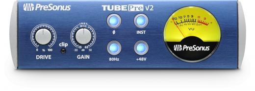 Preamplificador de micrófono e instrumento de un solo canal con circuito integrado de tono a tubo