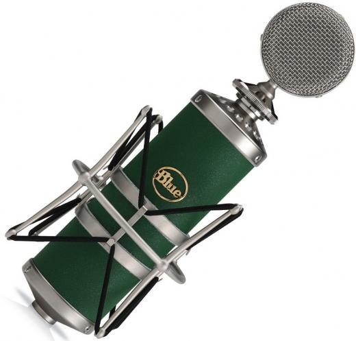 Micrófono condensador de diafragma grande cardioide/omni/figura8, con cápsula hecha a mano y Shockmount. 138dB SPL, 20Hz - 20kHz.