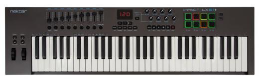 Controlador teclado USB-MIDI de 61 teclas con configuraciones preprogramadas de DAW para Bitwig Studio, Cubase, Digital Performer, Garageband, Logic Pro, Nuendo, Reason, SONAR, Studio One, FL Studio y Reaper