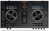 Controlador de DJ de 2 cubiertas / Interfaz de audio USB de 24 bits con diseño ergonómico, 2 preamplificadores de micrófono y compatibilidad total con Serato DJ