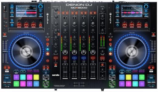 Controlador Digital DJ de 4 zonas con pantallas de alta resolución y puertos USB duales
