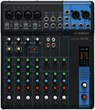 Mezclador analógico de 10 canales con 4 preamplificadores de micrófono, 3 canales de línea estéreo dedicados, 1 envío auxiliar, ecualizador y compresores de 1 botón