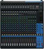 Mezclador analógico de 20 canales con 16 preamplificadores de micrófono, 4 canales de línea estéreo dedicados, 4 envíos auxiliares, ecualizador y compresores de 1 botón