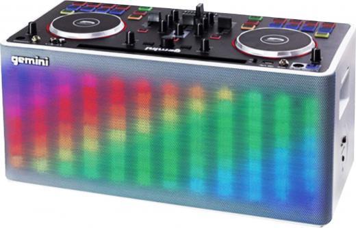 Sistema de DJ para llevar a cualquier parte, transmisión a traves de Bluetooth, Entrada Aux y Micrófono