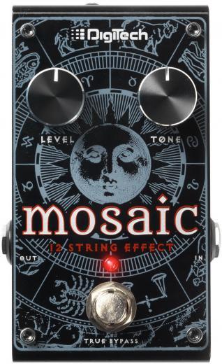 El Mosaic genera un efecto polifónico de 12 cuerdas tanto en guitarras acústicas o eléctricas amplificadas.