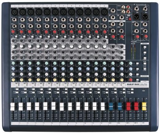 12 canales de entrada mono, 2 entradas estéreo, Salida de grabación de 2 pistas, Preamplificadores de micrófono GB30
