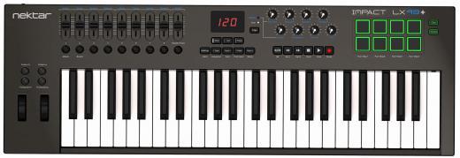 Controlador teclado USB-MIDI de 49 teclas con configuraciones preprogramadas de DAW para Bitwig Studio, Cubase, Digital Performer, Garageband, Logic Pro, Nuendo, Reason, SONAR, Studio One, FL Studio y Reaper