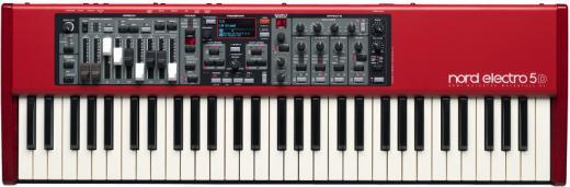 Piano Digital de 61 teclas con sonidos de piano y órgano, barras de delizamiento analogas, efectos, USB y emulador de altavoz rotatorio