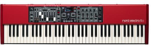 Piano Digital de 73 teclas con sonidos de piano y órgano, barras de deslizamiento analogo, efectos, USB y emulador de altavoz rotatorio