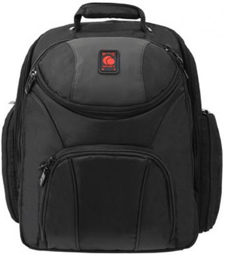 REDLINE ® serie, completamente acolchado para la proteccion de equipos, compartimientos dedicados para laptop, auriculares, etc, sujetadores elásticos de cable de banda